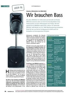 Soundcheck Test: Mackie SRM450v2 & SRM1801 - Wir brauchen Bass