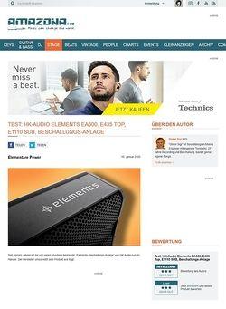 Amazona.de Special: HK-Audio Elements im Bandtest