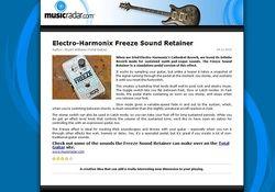 MusicRadar.com Electro-Harmonix Freeze Sound Retainer