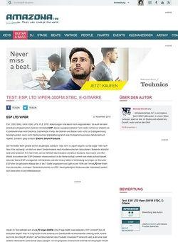 Amazona.de Test: ESP, LTD Viper-300FM STBC, E-Gitarre