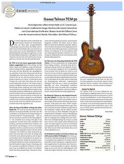 Guitar Test: Ibanez Talman TCM 50 E-Akustikgitarre