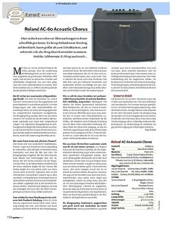 Guitar Test: Roland AC-60 Acoustic Chorus