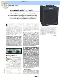 Guitar Test: Mesa Boogie Walkabout Basscombo