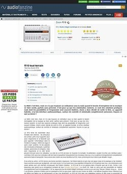 Audiofanzine.com Zoom R16