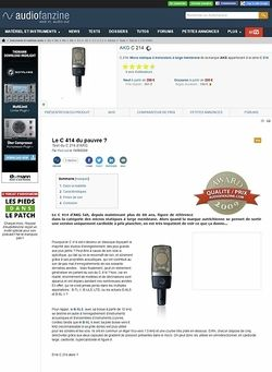 Audiofanzine.com AKG C 214