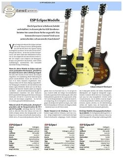 Guitar Test: ESP Eclipse II, ESP Eclipse I, ESP Eclipse-NT