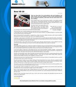 MusicRadar.com Boss VE-20