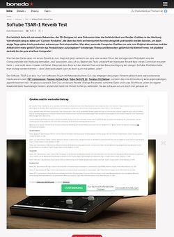 Bonedo.de Softube TSAR-1 Reverb