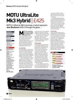 Future Music MOTU UltraLite Mk3 Hybrid