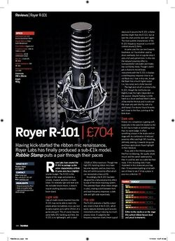 Future Music Royer R-101