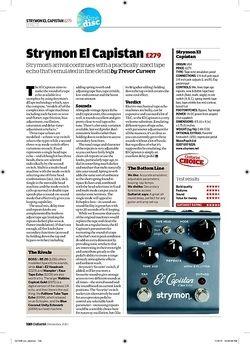 Guitarist Strymon El Capistan