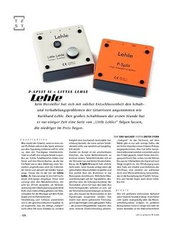 Gitarre & Bass Lehle P-Split II + Little Lehle, Signal-Looper/Splitter