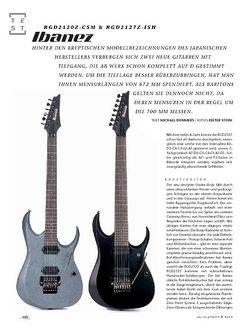Gitarre & Bass Ibanez RGD2120Z-CSM & RGD2127Z-ISH, E-Gitarren