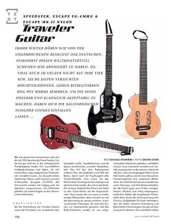Gitarre & Bass Traveler Guitar Speedster, Escape EG-1MHG & Escape MK-II Nylon