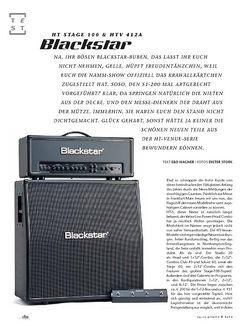Gitarre & Bass Blackstar HT Stage 100 & HTV 412A, Tube-Stack