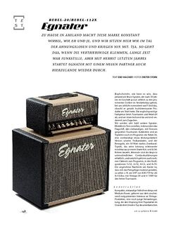 Gitarre & Bass Egnater Rebel-20/Rebel-112x, Top & Box