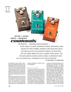 Gitarre & Bass cmatmods Butah, Signa Drive, Brownie, FX-Pedale