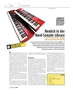 Keyboards Neulich in der Clavia Nord Sample Library