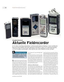Sound & Recording Aktuelle Fieldrecorder