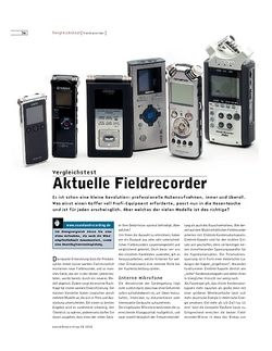 Sound & Recording Aktuelle Fieldrecorder