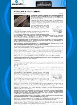 MusicRadar.com Vox AC30HW2X & AC15HW1