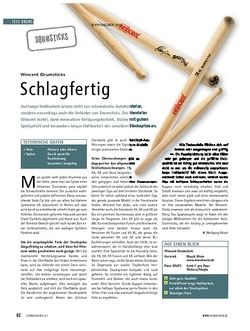 Soundcheck Test: Wincent Drumsticks - Schlagfertig