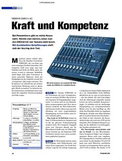 Tastenwelt Test: Yamaha EMX5014C - Kraft und Kompetenz