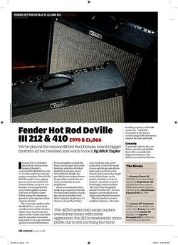 Guitarist Fender Hot Rod DeVille 212 & 410