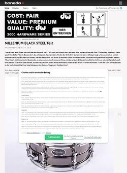 Bonedo.de Millenium Black Steel