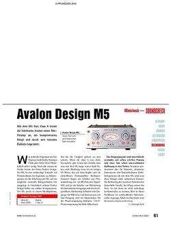 Soundcheck Minicheck: Avalon Design M5