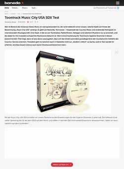 Bonedo.de Toontrack Music City USA SDX