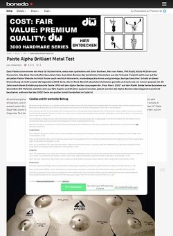 Bonedo.de Paiste Alpha Brilliant Metal