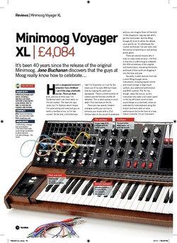 Future Music Minimoog Voyager XL