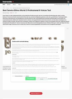 Bonedo.de Best Service Ethno World 5 Professional & Voices