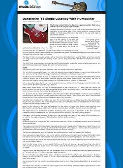 MusicRadar.com Danelectro '56 Single Cutaway With Humbucker