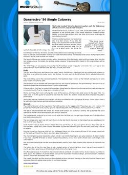 MusicRadar.com Danelectro '56 Single Cutaway