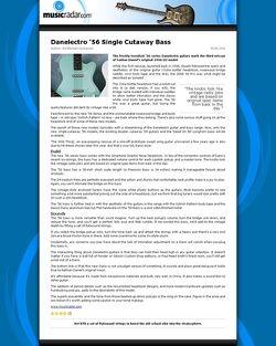 MusicRadar.com Danelectro '56 Single Cutaway Bass