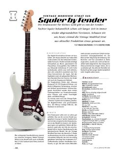 Gitarre & Bass Squier by Fender Vintage Modified Strat SSS, E-Gitarre