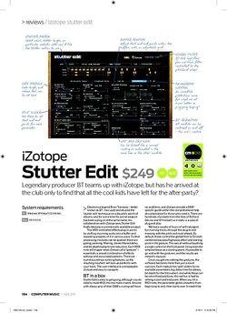Computer Music iZotope Stutter Edit