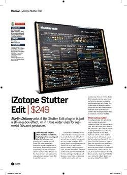 Future Music iZotope Stutter Edit
