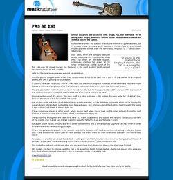 MusicRadar.com PRS SE 245