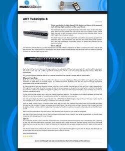 MusicRadar.com ART TubeOpto 8
