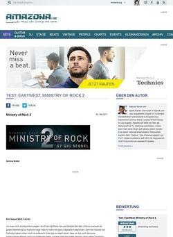 Amazona.de Test: EastWest, Ministry of Rock 2