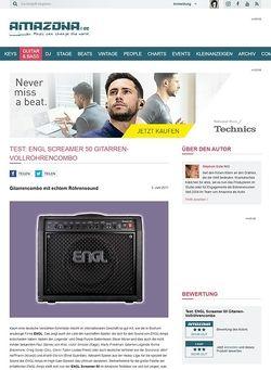 Amazona.de Test: ENGL, Screamer 50, Gitarren-Vollröhrencombo