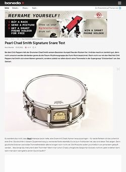 Bonedo.de Pearl Chad Smith Signature Snare