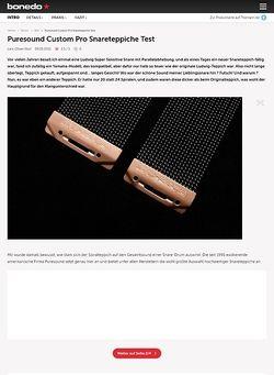 Bonedo.de Puresound Custom Pro