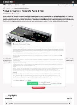 Bonedo.de Native Instruments Komplete Audio 6