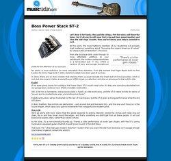 MusicRadar.com Boss Power Stack ST-2