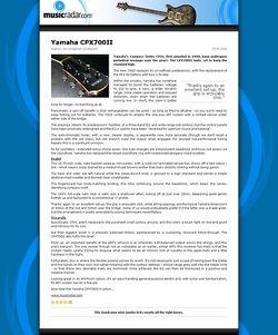 MusicRadar.com Yamaha CPX700II