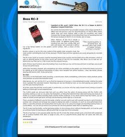 MusicRadar.com Boss RC-3